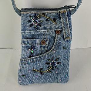 Beaded Levi's Jeans Pocket Mini Bag